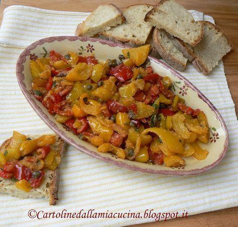 Cartoline dalla mia Cucina: Peperoni alla poverella