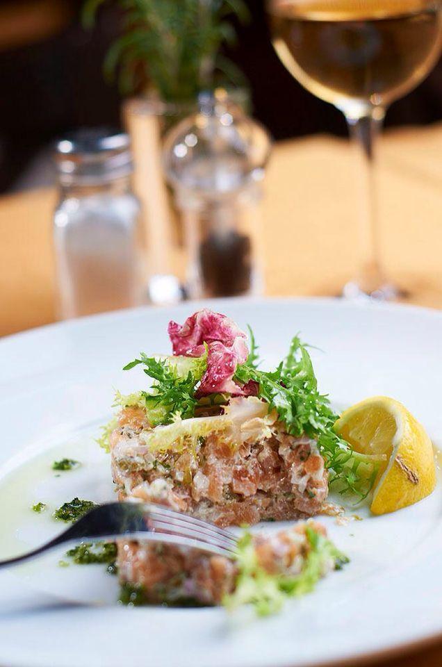 Salmon Tatar @ Mercatino Restaurant Budapest