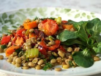 Warm lentil salad | Mediterranean salads | Pinterest