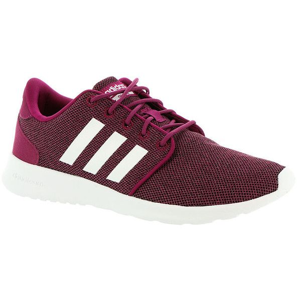 adidas Cloudfoam QT Racer Women's Red Sneaker ($65) ❤ liked on Polyvore featuring shoes, sneakers, red, adidas footwear, adidas shoes, red trainers, adidas sneakers and red sneakers