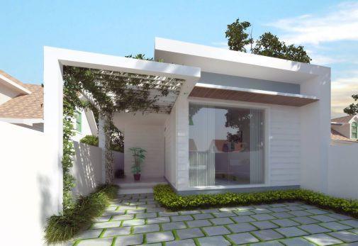 Mẫu thiết kế nhà cấp 4 đẹp 5×20 3 phòng ngủ hiện đại kiến trúc độc đáo