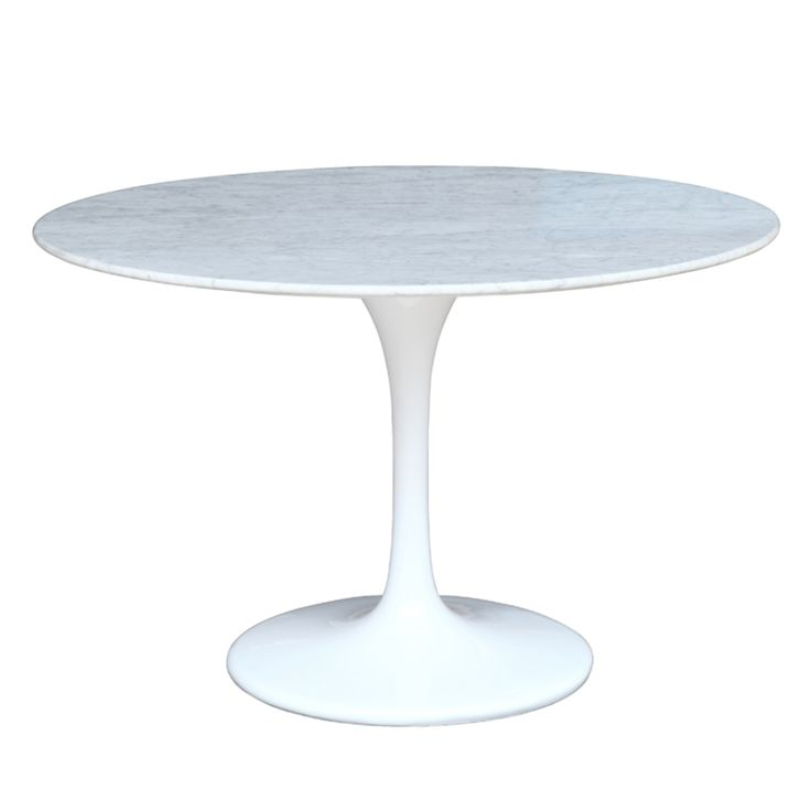 Fine Mod Imports Flower Marble Table 32″, White