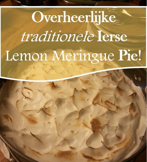 Voor mijn verjaardagsfeestje maakten we heerlijke, traditionele Ierse Lemon Meringue Pie! Heel eenvoudig te maken maar zó lekker!