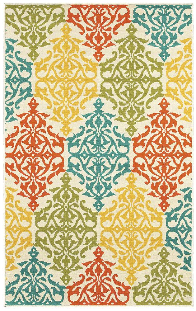 "Area Rug in the Al Fresco collection style ""Sandee"" - oh my I love it! It matches my whole color scheme!!!!"