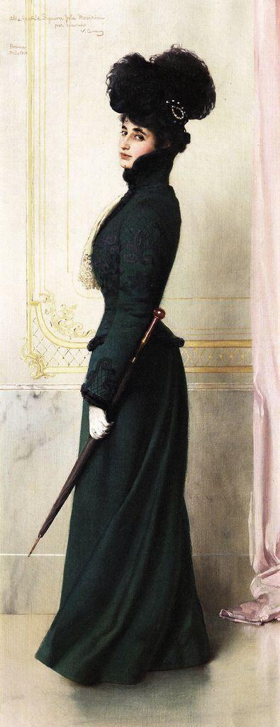 Vittorio Matteo Corcos (1859 - 1933) - Portrait of Jole Moschini Biagini, 1901.
