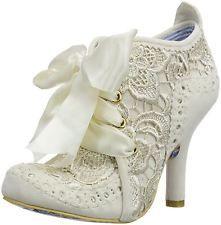 Irregular Choice Abigail's Third Party Cream Womens Shoes Boots