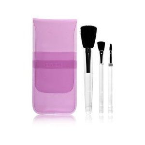 Clinique Travel Make Up Brush Set 3 Piece Set with Pouch by CLINIQUE. $6.95. This 3 piece brush set is the perfect companion when you need something compact. Set includes: 1 blush brush 1 eye shadow brush 1 lip gloss brush.