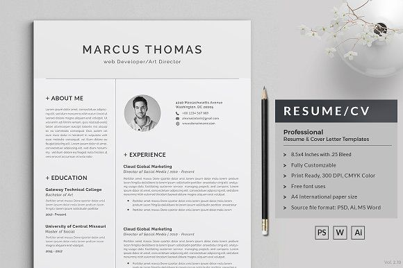 Resume/CV 3 Page by ThemeDevisers on @Graphicsauthor Resume