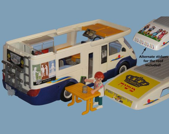 Mitzvah Tank Stickers for Playmobil Family by KidsPlayJewish, $13.95