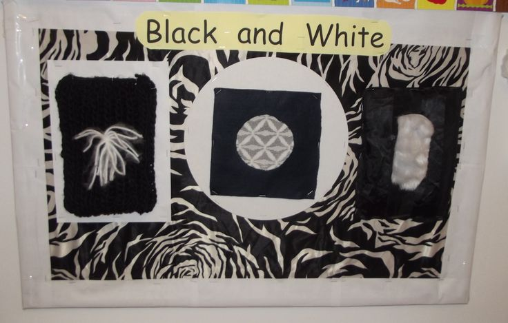 Black and White Sensorial display for Baby Acorns@Acorns Nursery