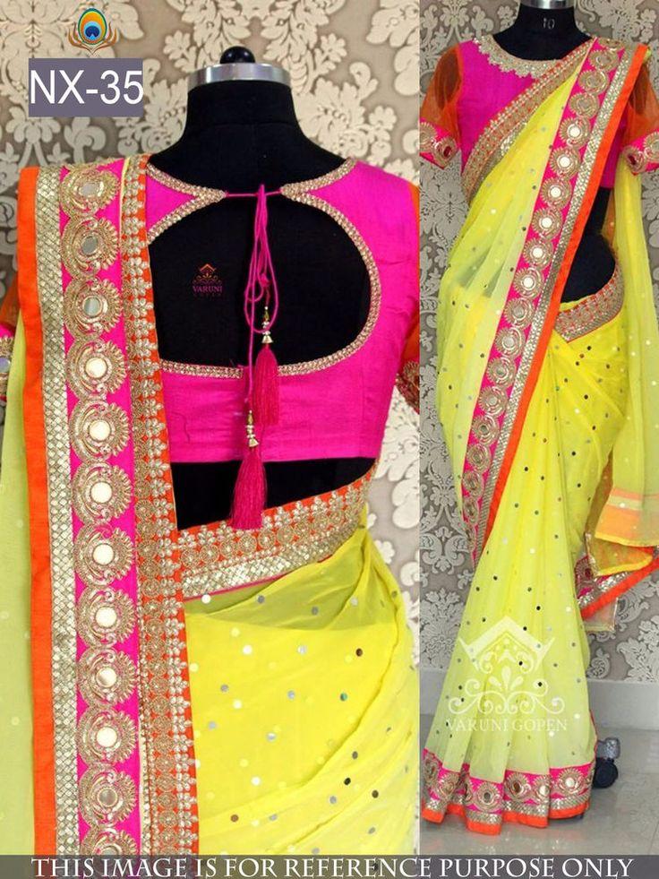Savvys Bollywood Saree Indian Designer Ethnic Party Wear Lehenga Pakistani NX-35 #SavvysStore #Saree