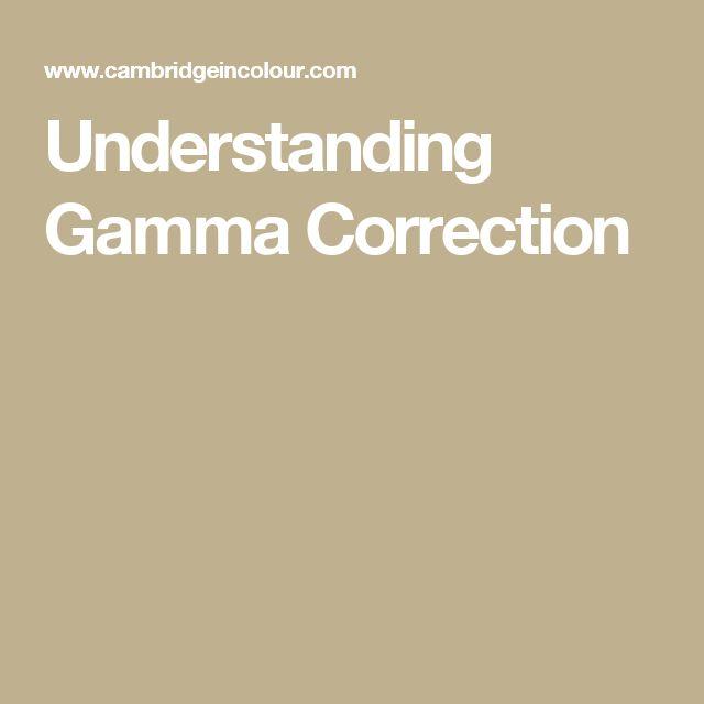 Understanding Gamma Correction