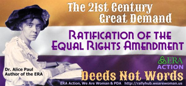 a review of an equal rights amendment to the constitution Women's history month: history yet to be made on equal rights amendment believe that women and men have equal rights under the us constitution.
