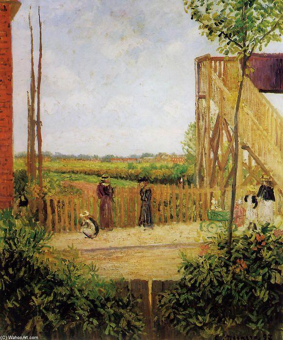 A ponte ferroviária em Bedford Park 1 por Camille Pissarro (1830-1903, Ilhas Virgens)