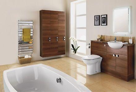 Hbo85600 Contemporary Semi Gloss Walnut Bathroom Ideas
