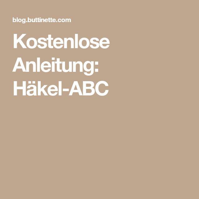 Kostenlose Anleitung: Häkel-ABC