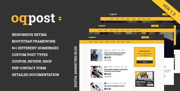 oPPost   Digital Downloads Marketing Blog Responsive WordPress Theme