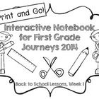 Don't ya love FREEBIES??   This one week interactive notebook product is the beginning of a series for Houghton Mifflin Harcourt's Journeys 2014 re...