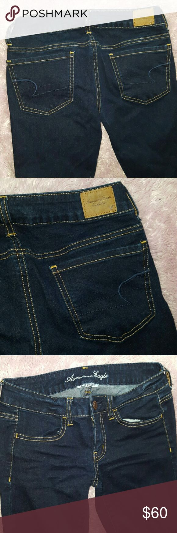 1 HR SALE~ JEGGING STRETCH American Eagle NWOT JEGGING SUPER STRETCH Jeans ~ American Eagle New without Tags ~ Size 2 regular ~ 72% cotton 14% polyester 13% rayon 1% spandex ~ darker wash AMAZING Pair of jeans! I ship daily. (#A3) American Eagle Outfitters Jeans Skinny