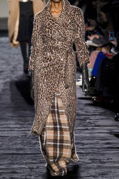 28b02b83a2d9 Max Mara | Fiacre leopard-print wool-blend trench coat | NET-A ...