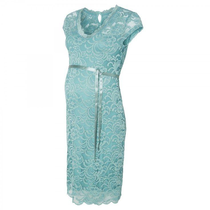 Mivana party dress mineral blue - Trouw- en Feestkleding - Zwangerschapskleding - BellyFashion.nl
