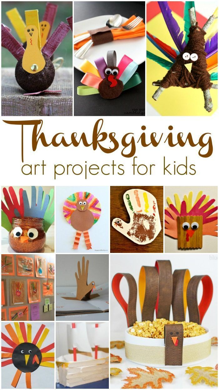 Lots of easy Thanksgiving crafts for kids here. Try one or all of them, you'll be set for Fall art project for kids!