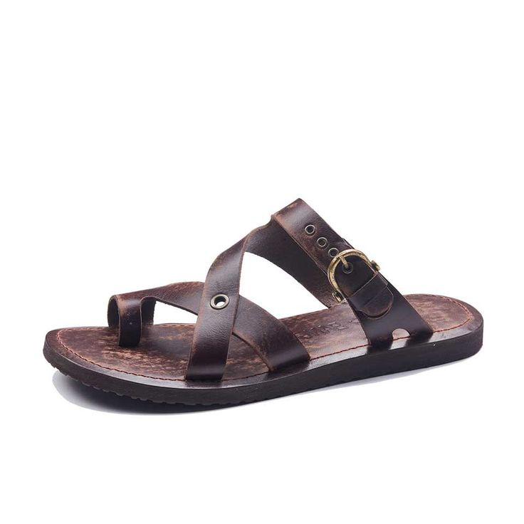 Handmade Leather Bodrum Sandals Men, High Quality Sandals, Cheap Sandals, Comfortable Sandals, Mens Leather Sandals, 1942, Toe Loop Sandals