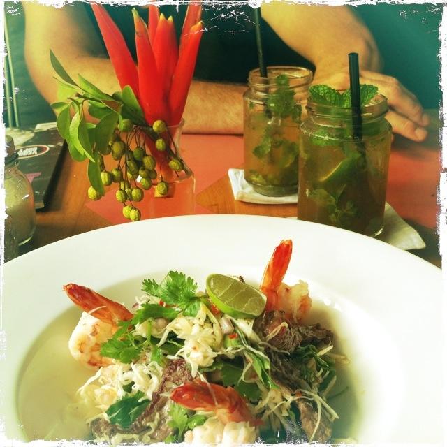 Apple mojito and Thai beef salad - Sea Circus, Seminyak Bali <3