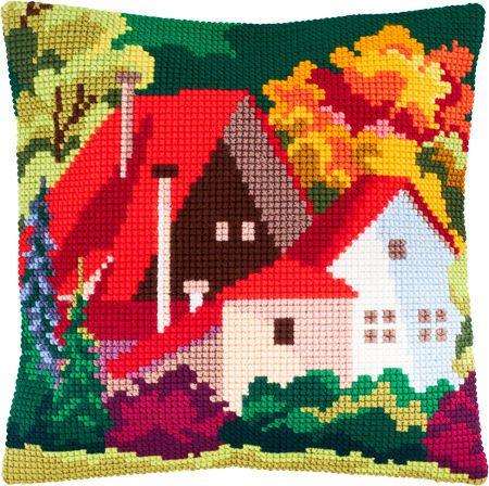 Осенний пейзаж Z-61 / Чарівниця / Наборы для вышивки подушек крестом / Вышивание на Zinzilin.com