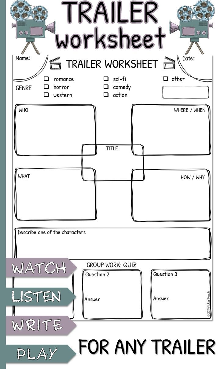 Trailer Worksheet For Any Trailer Movies By Genre Genres Buzzfeed Movies