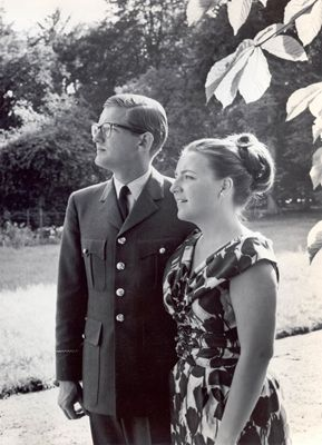 Verlovingsfoto van Prinses Margriet en mr. Pieter van Vollenhoven, 1965 © RVD