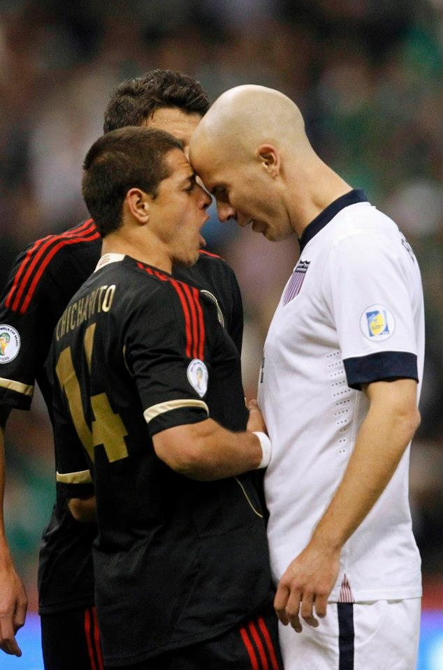 Michael Bradley (The General) taking it to Chi Chi. This guy holds everything together. #chicharito #mexicano<3