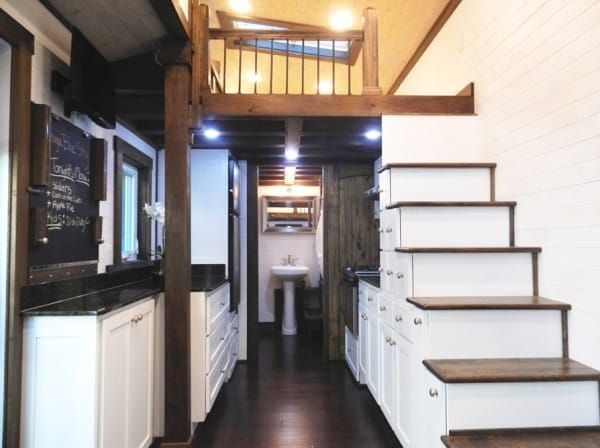 diy tennessee tiny house on wheels. For sale....$75k. It is larger, very well appointed and the use of high end finishes and appliances ensures that the price would be high.