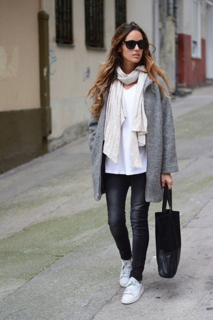 1000 id es propos de pantalon gris sur pinterest tenue de pantalon gris pantalon gris et - Costume gris fonce ...