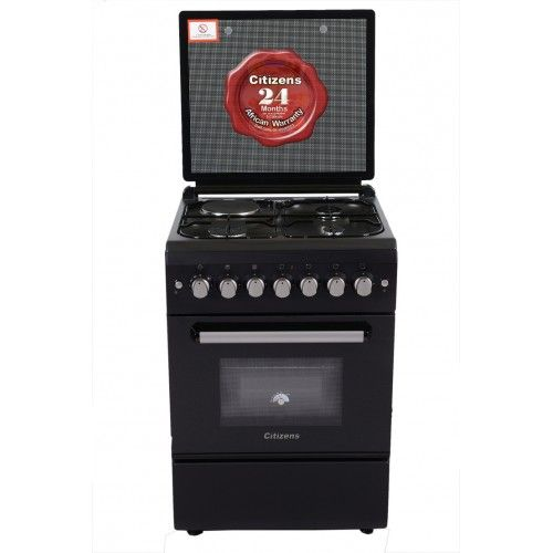 Citizens CF-6631-MOGIT 60x60 Free Standing Gas Cooker 3Gas+1Elect  Ebony series