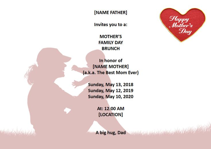 Mother's Day Party Invitation letter - Looking for the perfect mother's day Party invitation letter?