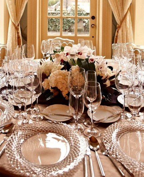 74 best Winter Wedding Table Settings images on Pinterest ...