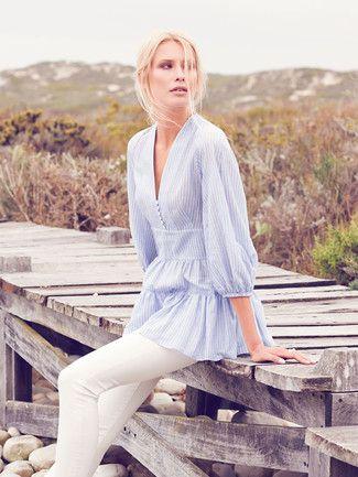 Schnittmuster: Folk-Bluse - tiefer V-Ausschnitt - Blusen & Tuniken - Damen - burda style