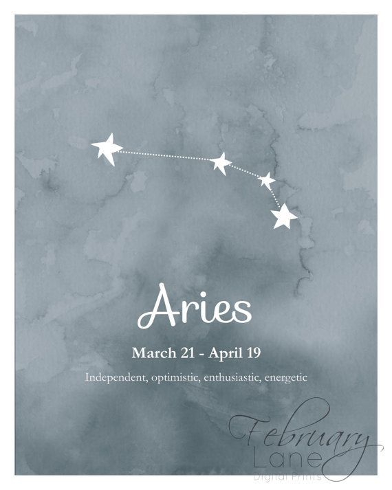 Aries Zodiac Constellation Wall Art Printable 8x10 by FebruaryLane