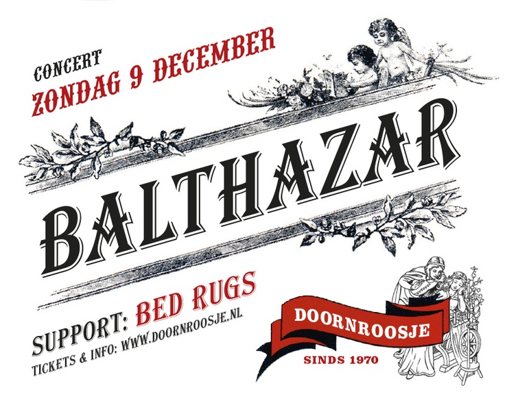 Just for fun: poster for a concert in Doornroosje, Nijmegen, based on a winelabel.