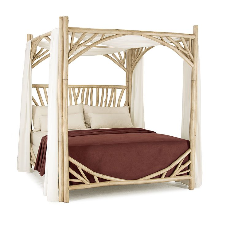 Rustic Canopy Bed King  4282  shown in Mushroom Finish  La Lune Collection. 17 best ideas about Rustic Canopy Beds on Pinterest   Log bed