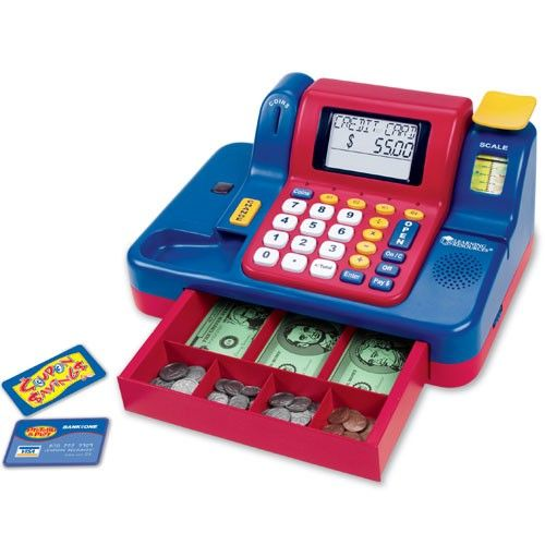 Teaching Cash Register with Canadian Currency LER-LSP-2690 - My son loves shopping with me.  I know he would love this cash register!