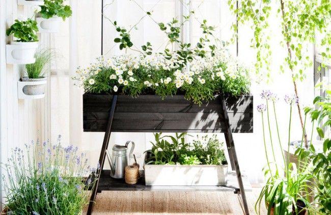 Hasselfors Garden Odlingsbänk på ben, svart