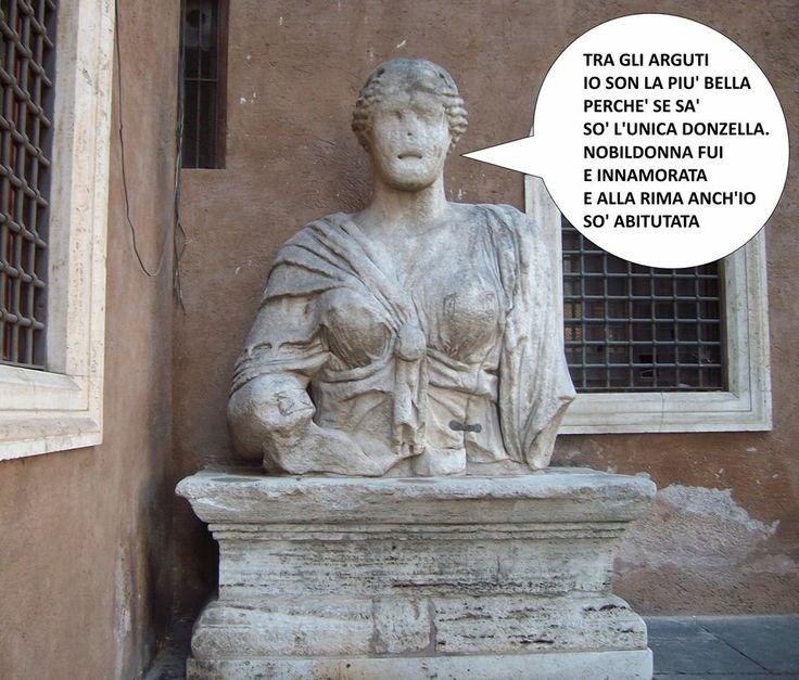 """Madama Lucrezia è un colossale busto di epoca romana, alto circa tre metri, attualmente posto su un basamento all'angolo tra il Palazzetto Venezia e la basilica di S. Marco, nell'omonima piazza. E' l'unica rappresentante femminile della cosiddetta """"Congrega degli Arguti"""""""