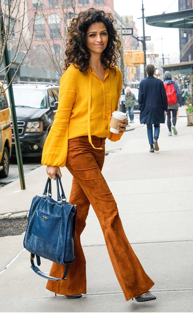 Camila Alves from The Big Picture: Today's Hot Photos Fashion first! The gorgeous gal rocks a '70s inspired ensemble in New York City.