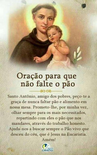 Pin De Maria Rosa Em Oracao Oracao Santo Antonio Oracao E