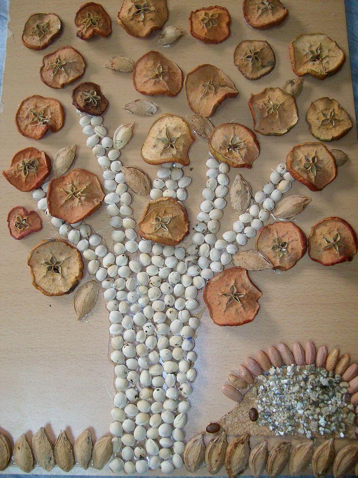Mejores 53 im genes de cuadros echos con cemillas en for Cuadros hechos con piedras