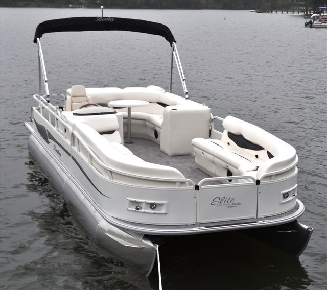 New 2012 Bentley Pontoon Boats 203 Cruise Pontoon Elite Model - Ivory White.