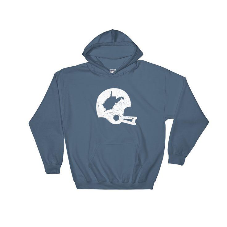 Retro WV Football Helmet Men's/Unisex Hooded Sweatshirt