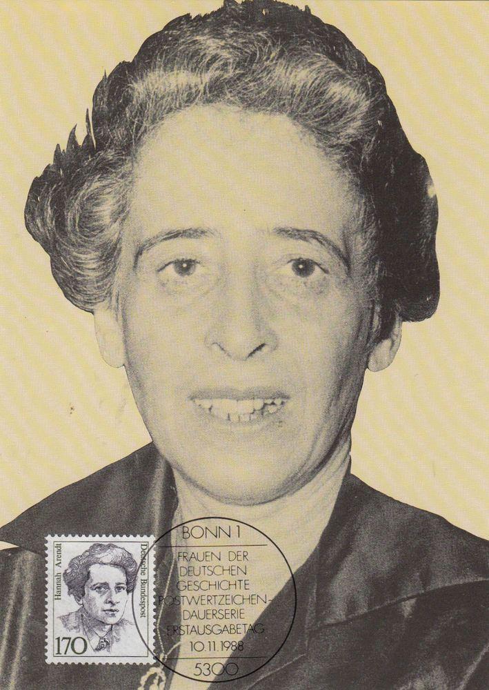 Arendt Hannah    Maxik. BRD 1988